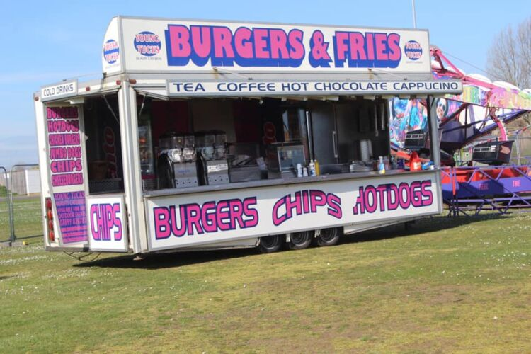 Young Tucks Event Catering unit, serving Burgers, Fries aswell as Tea, coffee and hot chocolate