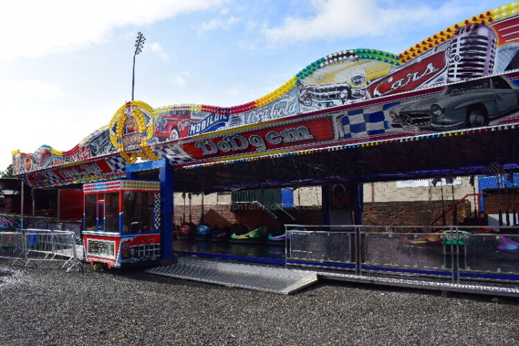 Photograph of the Rock 'n' Roll Dodgem Cars that are available to hire