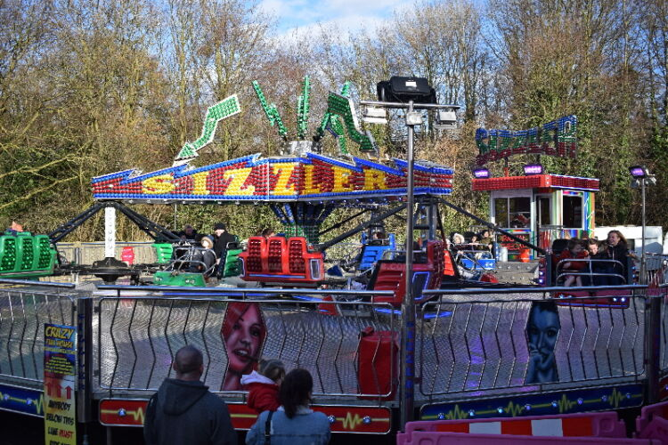 Photograph of George Rowland Tuckers Sizzler Twist funfair ride at Humber Bridge Valentines Fair