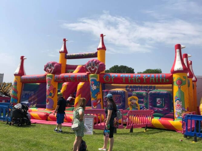 Photograph of one of our bouncy castles, which is available to hire for childrens parties.