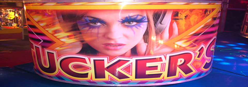 Artwork on the back of our Waltzer Cars