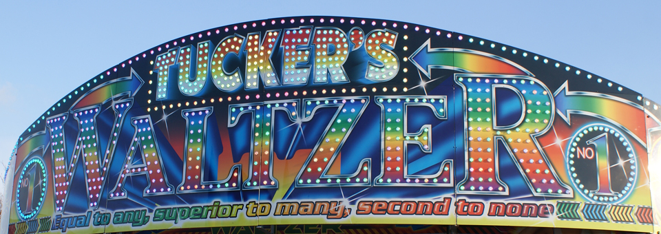 Artwork and lighting on the front of our Waltzer